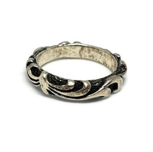 Sterling Silver 3D Swirl Band Ring
